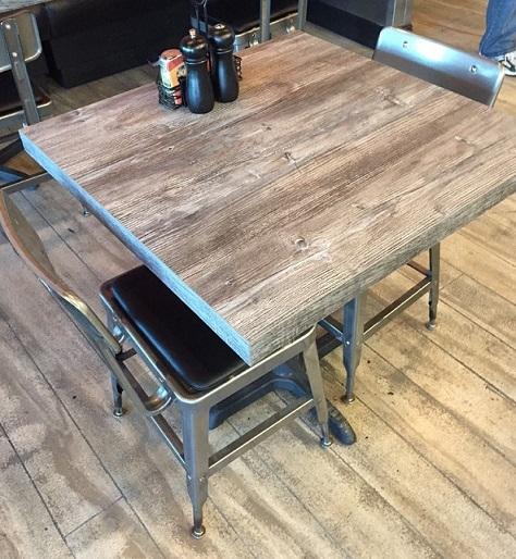 Laminate Rustic Restaurant Tabletops In Stock