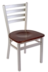 Silver Metallic Ladder Back Dining Chair