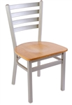 Silver Platinum Ladder Dining Chair