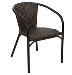 Outdoor Wicker Java Weave Arm Chair