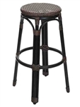 Outdoor Wicker Java Weave Bar Stool