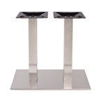 Brushed Steel Rectangle Tabletop Bases