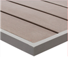 Teak Faux Wood Grey Outdoor Dining Table Tops