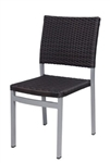Outdoor Espresso Dining Side Chair