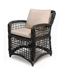 66 - Kensington All Weather Espresso Weave Cushioned Arm Chair