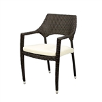 Outdoor Wicker Seating Espresso Arm Chair