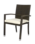 Zen Outdoor Espresso Wicker Weave Arm Chair