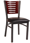 Multi Slat Wood-Metal Restaurant Dining Chairs