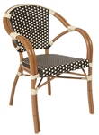 Rattan Bistro Weave Arm Chair