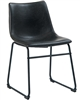 Black Steel Chair with Black Vinyl Cushion