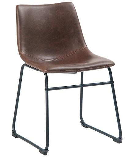 67 Black Steel Chair With Dark Brown Vinyl Cushion