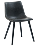 Modern Black Metal Upholstered Industrial Chair