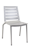 Outdoor Aluminum Chair with Slat Seat n Back