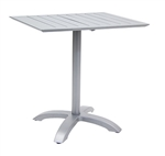 Outdoor Aluminum Grey Tabletops w/ Base