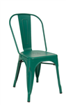 Industrial Distressed Steel Chair; choice of colors