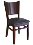 Dining Chair with Wood Grain Curved Back