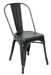 Industrial Black Gold Distressed Metal Chair