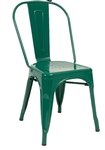 Industrial Green Bistro Steel Dining Chairs