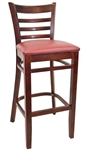 Ladder Back Wood Pub Bar Stool
