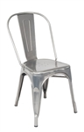Industrial Steel Chair in Clear Finish for Indoor Seating
