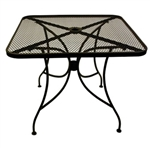 Outdoor Black Metal Mesh Tables