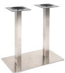 Rectangle Stainless Steel Restaurant Table Bases: Indoor Use