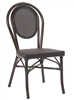Paris Black Rattan Mesh Aluminum Dining Chair