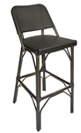 Black Rattan Bistro Dining Bar Stool