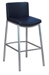Modern Industrial Bar Stool Upholstered: Black