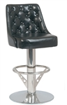 Casino Black Tuft Swivel Upholstered Bar Stool