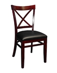 Cross Over Back Wood Dining Chair