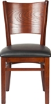 Restaurant Dining Chair with Solid Wood Back