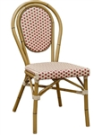 Bistro Rattan Chair with Ivory Red weave