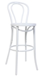 White Bent Wood Hair Pin Bar Stool