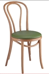 Classic Bent Wood Chair w/Padded Seat