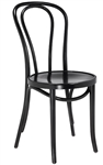 Classic Bent Wood Chair with Hair Pin Black Stain