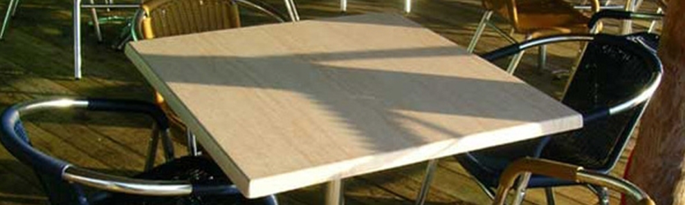 White Table Tops Restaurant Cafe Bar Club High Pressure Laminate Square