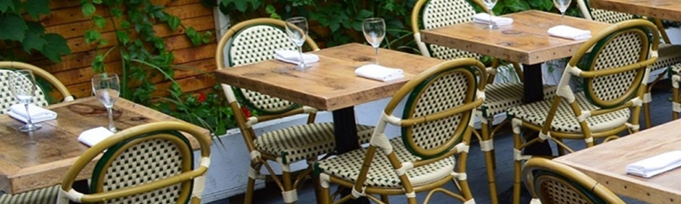 Frenchie De Bistro Rattan Chairs Wholesale Restaurant Aluminum